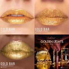 Gold Bar LipSense by SeneGence is a Limited Edition lipcolor described as a .  Part of the Golden Lights Collection, click thru to purchase yours now.  #goldenlights #senegence #lipsense #goldbar #goldlipstick