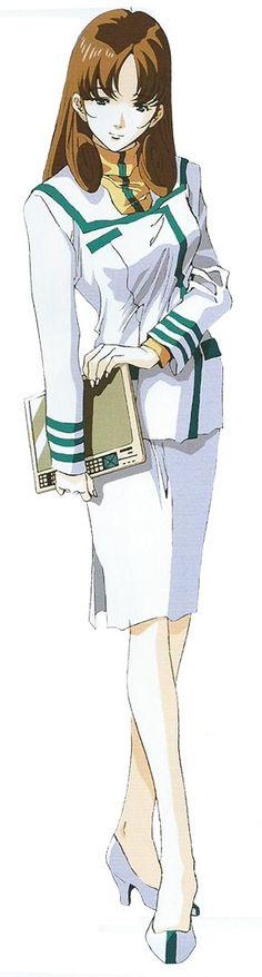 MACROSS - Cmdr HAYASE Misa 早瀬未沙 in standard dress UNSpacy uniform #超時空要塞マクロス #マクロス, by Haruhiko Mikimoto