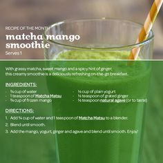 Tea Recipe - Matcha Mango Smoothie