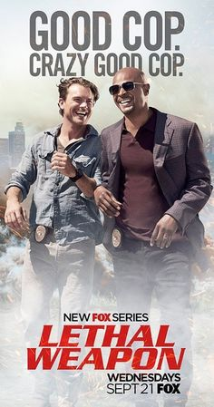 Created by Matthew Miller.  With Damon Wayans, Clayne Crawford, Jordana Brewster, Keesha Sharp. TV show based on the popular 'Lethal Weapon' films in which a slightly unhinged cop is partnered with a veteran detective trying to maintain a low stress level in his life.