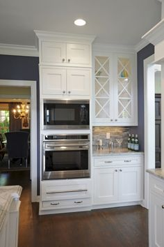 Transitional Island Style Blue kitchen, white cabinets, Stefanie Ciak, Other