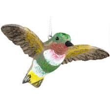 Green And Yellow Hummingbird Ornament