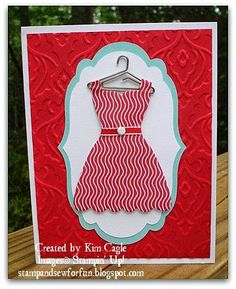 Stamp and Sew For Fun - Dress Up Cards - Stampin' Up!