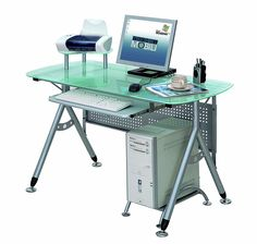 coaster contemporary computer workstation office desk table. Contemporary Style Glass And Metal Steel Frame Computer Desk Coaster Workstation Office Table R