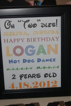 """Photo 1 of 30: Mickey Mouse Club House/Oh """"two""""dles! / Birthday """"Logan's 2nd Birthday Party"""" 