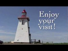 Built in Souris East Lighthouse is a white and red square tapered wood constructed tower standing meters above the cliff on Knight Point overlooki. Tower Stand, Cn Tower, Prince Edward Island, Lighthouses, Vacation, Building, Youtube, Travel, Vacations