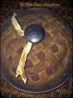 Faux primitive Salt dough cherry pie By: Ye Olde Crow Primitives