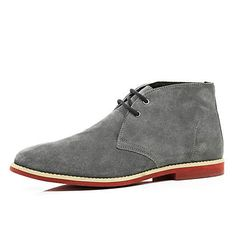 Grey suede lace up desert boots £45.00