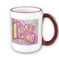 Love Word Art Mug