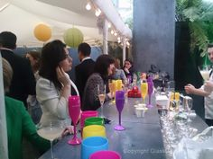 Busy bar at the #Chandon tasting event, 2014.