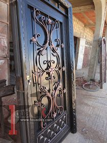 اجمل واحدث ديكورات ابواب حديد مشغول و بوابات حديد 2014 من اعملنا Wrought Iron Doors Iron Doors Doors