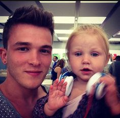 Josh Devine and Lux OMG does she have beats on!!!!!!