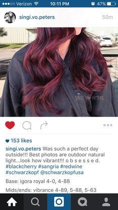 Best Indoor Garden Ideas for 2020 - Modern Sangria Color, Schwarzkopf Hair, Wine Hair, Hair Color Formulas, Bayalage, A Perfect Day, Indoor Garden, Natural Light, Red Hair