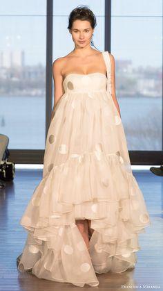 Francesca Miranda Spring 2017 Wedding Dresses #bridal #wedding #weddingdress #weddinggown #bridalgown #dreamgown #dreamdress #engaged #inspiration #bridalinspiration #weddinginspiration #weddingdresses