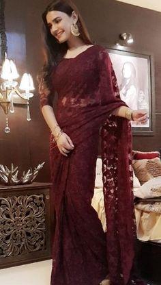 Ayeza Khan, Indian Bridal Outfits, Net Saree, Saree Collection, Wedding Decorations, Formal Dresses, Fashion, Dresses For Formal, Moda