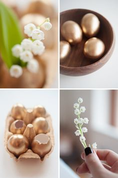 DIY: Make Your Own Golden Easter Eggs // 79 Ideas