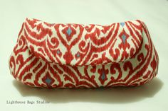 Curvy Clutch / BridesmaidWedding Clutch  Red by Lighthousebags, $15.00