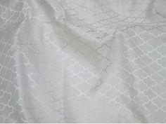 2.5 meter White Jacquard Fabric Indian Silk Wedding Dress | Etsy Brocade Fabric, Jacquard Fabric, Satin Color, Indian Fabric, Wedding Fabric, White Texture, Wedding Bridesmaid Dresses, Fabric Design, Yard