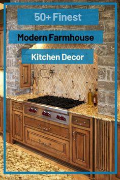 50+ Finest Modern Farmhouse Kitchen Decor Ideas #farmhousekitchendecorideas Modern Farmhouse Kitchens, Farmhouse Kitchen Decor, Trends, Home Remodeling, Decor Ideas, Logo, Home Decor, Logos, Decoration Home