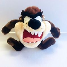 Looney Tunes Tasmanian Devil  Taz 10 inch Height Stuffed Toy 1998 Plush  #LooneyTunes