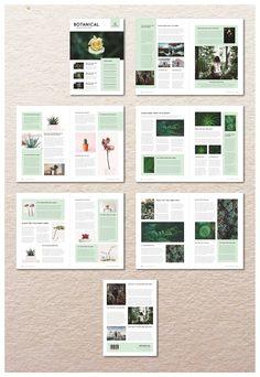 Botanical Newsletter by MA-KING_ART on @creativemarket