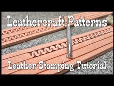 Leather tooling basics tutorial for beginners with Craftools select leathercraft tools. Learn to tool and carve leather with this video tutorial here on YouT. Leather Working Patterns, Leather Working Tools, Leather Craft Tools, Leather Projects, Leather Crafts, Diy Leather Stamp, Sewing Leather, Leather Knife Sheath Pattern, Leather Pattern