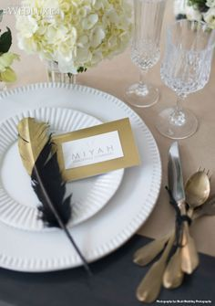 feather table card - Google Search