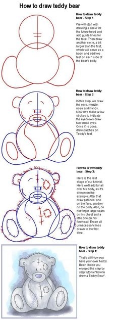 how to draw a teddy bear - Google Search