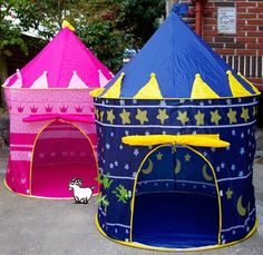 #PopularKidsToys Just Added In New Toys In Store!Read The Full Description & Reviews Here - Prince or princess Palace Castle Children kids Play Tent house indoor or outdoor garden toy wendy house playhouse beach sun tent boys girls - Prince or princess Palace Castle Children Play Tent For indoor and outdoor fun size of tent approx 105*105*135cm Comes in a handy carry bag for portability ideal for holiday, beach, grandparents house etc Pink or Blue you choose Prince or Princes