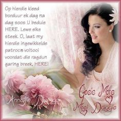 Goeie More, Afrikaans Quotes, Words, Horse