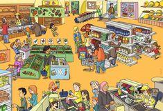 Alışveriş Süpermarket, Mağaza, Para, kasa.