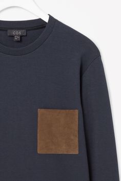 Suede pocket sweatshirt