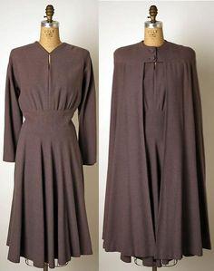 Wool ensemble, ca. 1940, American, Valentina (American, b. Russia, 1899–1989)