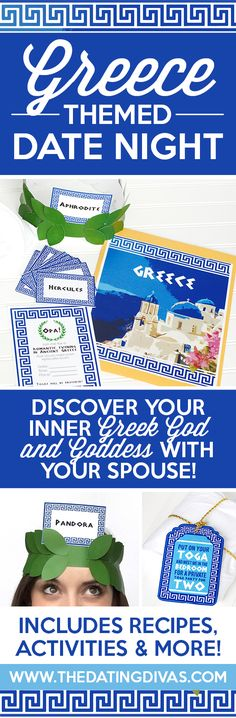 Greek Themed Date Night with fun ideas including an intimate bedroom game and amazing food for dinner!