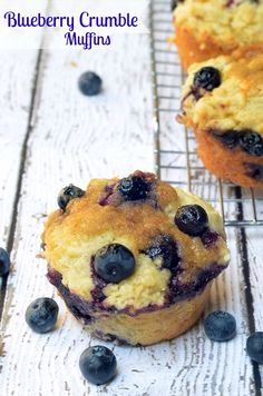 These blueberry muffins