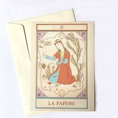 Laureen Topalian recreates traditional Persian watercolor paintings onto cards for all to experience the beauty. Each card is hand-painted with all the elements of classic Iranian art, mixing it with her creative and imaginative touch. Shop all Topalian's Persian cards online at alangoo.com/laureen-topalian