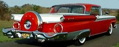 The 1959 Ford Fairlane, cherry red convertible. Such a pretty waste of money.