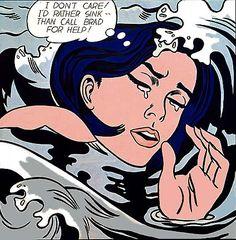 Roy Lichtenstein Pop Art, history, paintings, prints and everything else! Roy Lichtenstein Pop Art, Jasper Johns, Comic Kunst, Pop Art Movement, New York Poster, Girl Posters, Art And Illustration, Arte Popular, Popular Art