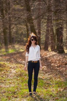 white shirts and jeans