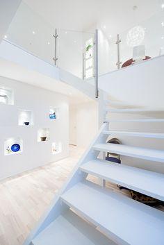 Modern white #stairs #interior #house