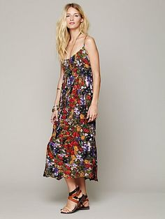Free People FP ONE Criss Cross Florals Maxi Dress 168