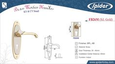 Brass Mortice Handle (Spider Locks Aligarh)