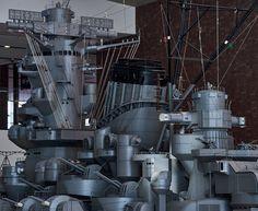 f:id:dualmoon:20160322035751j:plain:w900 Model Warships, Us Battleships, Military Drawings, Imperial Japanese Navy, 1 10 Scale, Musashi, Hiroshima, Scale Models, Sailing Ships