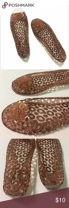 Boutique • honeycomb jelly flats No brand. Honeycomb jelly flats size 7.5. No wear. PVC plastic material. 1/2 inch heel. New. Boutique Shoes Flats & Loafers