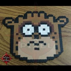 Rigby Regular Show perler beads by pixelxpixel