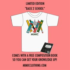 BACK 2 SCHOOL (Limited Edition)Pre-Orders Start TODAY!!!! 8/28/13 5PM EST. Only 12 in stock NO RESTOCKS WILL BE DONE! Comes with a free Composition book! Arrival Date 9/2/13 Please allow 2-3 days for shipping