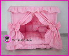 Princess Dog Bed | Charm Princess Pet Dog Princess Pet Dog Cat Handmade Bed House + 1 ...
