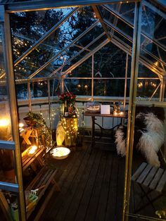 We built this greenhouse for my moms birthday..