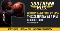 Join the Lady Eagles this Saturday at 3 p.m. to watch your Lady Eagles take on UTSA. And be sure to wear black and help us blackout the Green House.