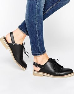 ASOS   ASOS MAP READER Lace Up Leather Shoes at ASOS